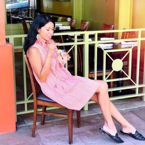 Sara Campbell Ruffle Sleeveless Gingham Dress, Med
